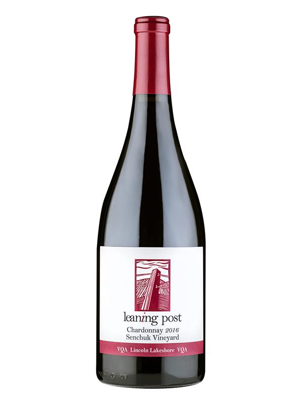 bottle of chardonnay senchuk vinyard