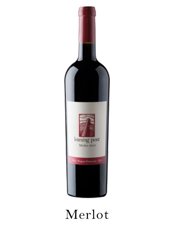 Merlot wine bottl