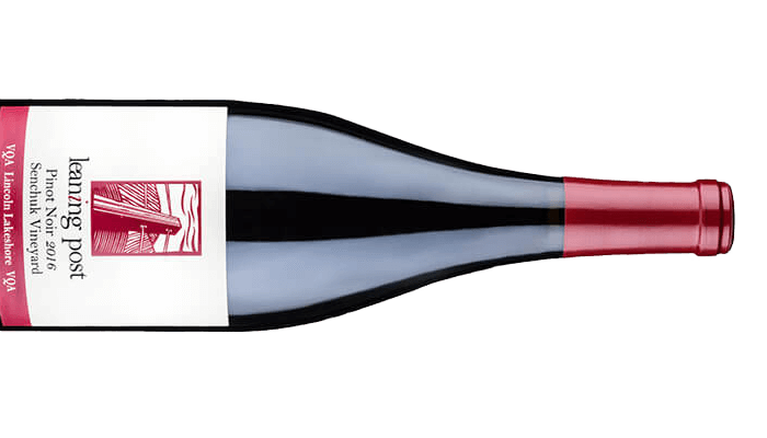 bottle of pinot noir senchuk vineyard