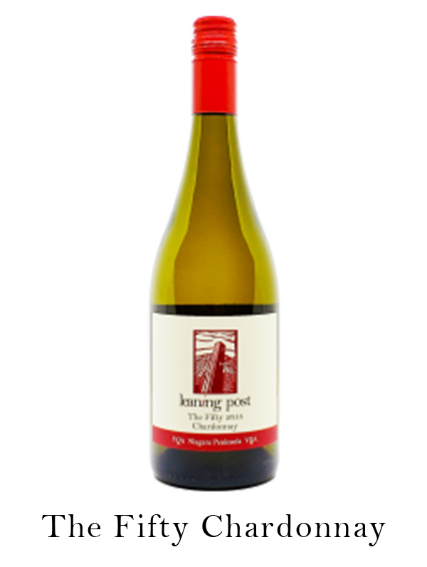 The Fifty Chardonnay wine bottle