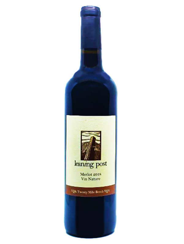 bottle of merlot vin nature