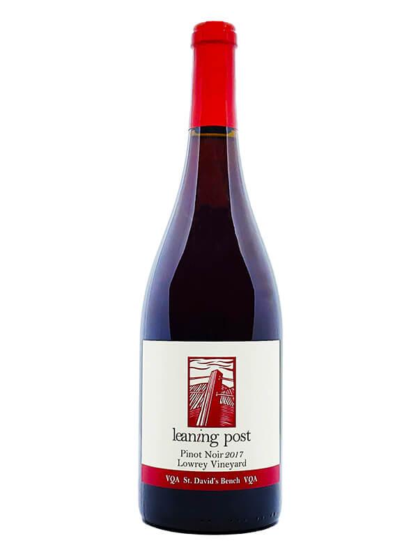 bottle of vintage pinot noir lowrey