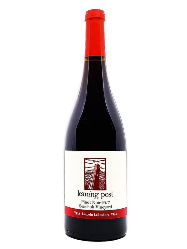 bottle of vintage pinot noir senchuk